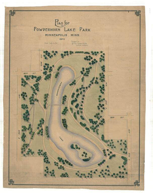 Powderhorn Park 1892 original plan