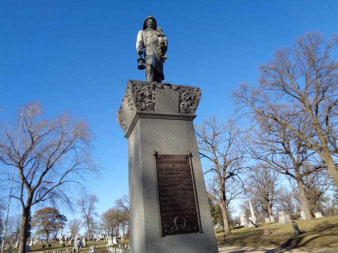 The Firefighters Memorial at Oakland Cemetery