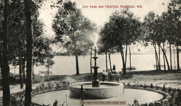 City Park and Fountain Rice Lake, WI