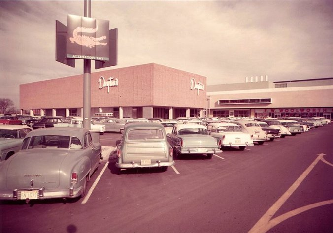 Southdale Center exterior, Edina, MN c1956